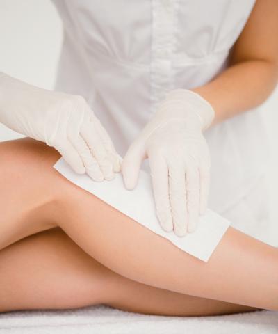 leg waxing by certified technician